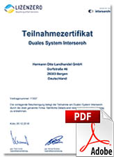 Interseroh certificate